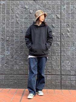 大阪店のmotomiさんのLeeの【ユニセックス】DUNGAREES ペインターパンツを使ったコーディネート