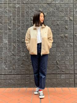 大阪店のmotomiさんのLeeの【Pre sale】【ユニセックス】フリースジップアップジャケットを使ったコーディネート