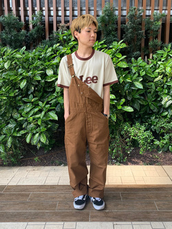 Lee 武蔵小杉店のRyoyaさんのLeeの【年間ベストセラー】オーバーオールを使ったコーディネート