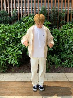 Lee 武蔵小杉店のRyoyaさんのLeeの終了【サマーセール】【男女兼用】バックプリントTシャツ半袖1を使ったコーディネート
