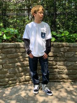 Lee 武蔵小杉店のRyoyaさんのLeeの終了【サマーセール】【男女兼用】デニムポケット半袖Tシャツを使ったコーディネート