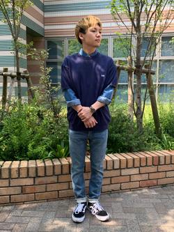 Lee 武蔵小杉店のRyoyaさんのLeeの【定番】ウエスタン デニムシャツ長袖を使ったコーディネート