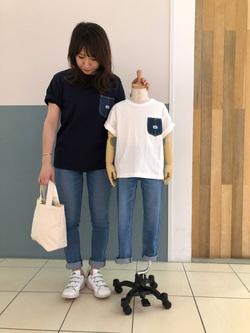 札幌パセオ店のChisatoさんのLeeのキッズ BASIC スキニー【130-160cm】を使ったコーディネート