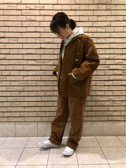 札幌パセオ店のChisatoさんのLeeのカバーオールジャケットを使ったコーディネート