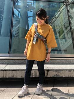 札幌パセオ店のChisatoさんのLeeの終了【再値下げ!サマーセール】エンブロイダリーTシャツを使ったコーディネート