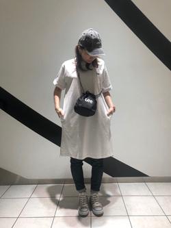 札幌パセオ店のChisatoさんのLeeの終了【再値下げ!サマーセール】ポケットTシャツワンピース半袖を使ったコーディネート