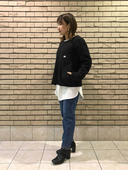 札幌パセオ店のChisatoさんのLeeの【Winter sale】【ユニセックス】【やわらかフリース】プルオーバーを使ったコーディネート