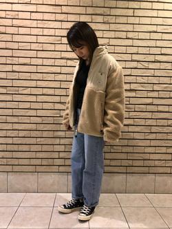 札幌パセオ店のChisatoさんのLeeの【ユニセックス】フリースジップアップジャケットを使ったコーディネート