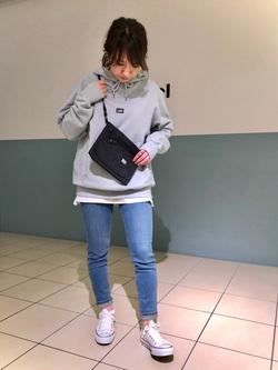 札幌パセオ店のChisatoさんのLeeのSTANDARD WARDROBE スキニーを使ったコーディネート