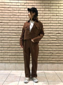 札幌パセオ店のChisatoさんのLeeの【セットアップ対応】ジャケットを使ったコーディネート