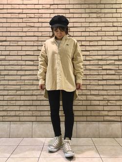 札幌パセオ店のChisatoさんのLeeの【トップス15%OFFクーポン対象】スタンドカラー長袖シャツを使ったコーディネート