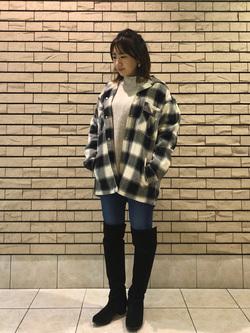 札幌パセオ店のChisatoさんのLeeの【さらっと羽織れる】シャツジャケットを使ったコーディネート