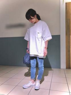 札幌パセオ店のChisatoさんのLeeの終了【再値下げ!サマーセール】半袖スウェットを使ったコーディネート