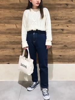 錦糸町PARCO店のyuikaさんのSOMETHINGのSOMETHING W-FRONT ルーミースリムを使ったコーディネート