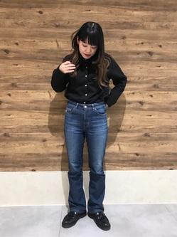 錦糸町PARCO店のyuikaさんのSOMETHINGのSOMETHING LISA マイクロフレアを使ったコーディネート