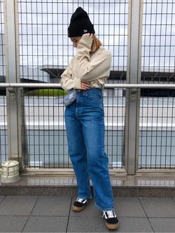 成田空港店(閉店)のYuzukiさんのLeeの【サマーセール】ポケット付きTシャツ 長袖を使ったコーディネート