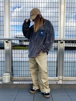 成田空港店(閉店)のYuzukiさんのLeeの【シークレットセーール!!】Lee×Dickies ドッキングワークパンツ2【ユニセックス】を使ったコーディネート