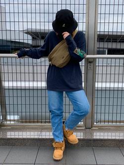 成田空港店(閉店)のYuzukiさんのLeeのSTANDARD WARDROBE テーパードを使ったコーディネート
