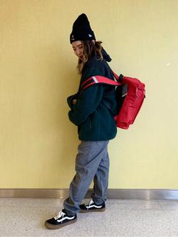 成田空港店(閉店)のYuzukiさんのLeeの【おうち時間応援セール】フリース ジップジャケットを使ったコーディネート