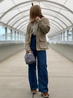 成田空港店(閉店)のYuzukiさんのLeeの終了【サマーセール】RESORT サファリジャケットを使ったコーディネート