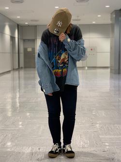 成田空港店(閉店)のYuzukiさんのLeeの【シークレットセーール!!】BUDDY LEE ワークシャツ【ユニセックス】を使ったコーディネート