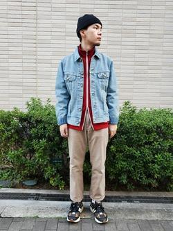 堀江店のAtsuyaさんのLeeの101J デニムジャケットを使ったコーディネート