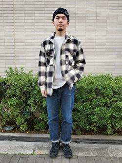 堀江店のAtsuyaさんのLeeの【さらっと羽織れる】シャツジャケットを使ったコーディネート