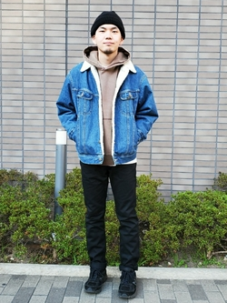 堀江店のAtsuyaさんのLeeのBOA STORM RIDER ジャケット【デニム】を使ったコーディネート