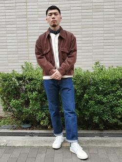 堀江店のAtsuyaさんのLeeの終了【決算SALE】【セットアップ対応】チェトパ ジャケットを使ったコーディネート