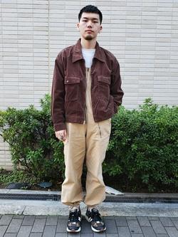 堀江店のAtsuyaさんのLeeの【Winter sale】【セットアップ対応】チェトパ ジャケットを使ったコーディネート