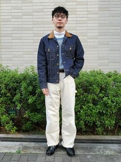 堀江店のAtsuyaさんのLeeのストームライダー ジャケットを使ったコーディネート