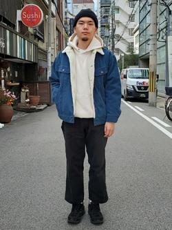 堀江店のAtsuyaさんのLeeのBOA STORM RIDER ジャケット【コーデュロイ】を使ったコーディネート
