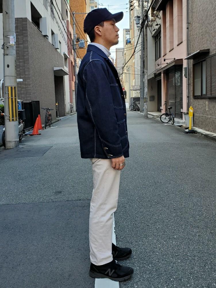堀江店のAtsuyaさんのLeeのカバーオールジャケットを使ったコーディネート