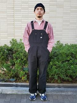 堀江店のAtsuyaさんのLeeの【Winter sale】【ユニセックス】ビッグフィット ワークシャツ(コーデュロイ)を使ったコーディネート