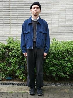 堀江店のAtsuyaさんのLeeの【トップス15%OFFクーポン対象】【セットアップ対応】チェトパ ジャケットを使ったコーディネート