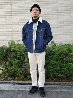 堀江店のAtsuyaさんのLeeの【Winter sale】BOA STORM RIDER ジャケット【デニム】を使ったコーディネート