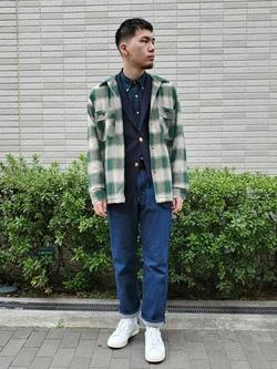 堀江店のAtsuyaさんのLeeの終了【Winter sale】AMERICAN RIDERS 101Z ストレートジーンズを使ったコーディネート