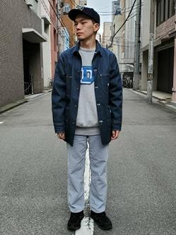 堀江店のAtsuyaさんのLeeのARCHIVES 50S 91-J ロコジャケットを使ったコーディネート