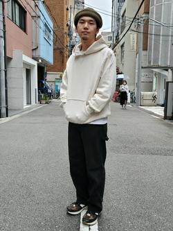 堀江店のAtsuyaさんのLeeのリブ ニット帽/ショートワッチを使ったコーディネート