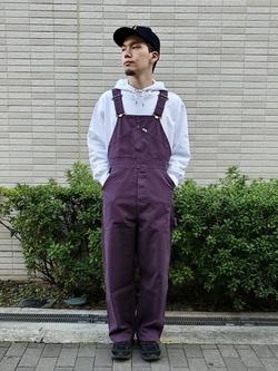 堀江店のAtsuyaさんのLeeの【男女兼用】刺繍Leeロゴ パーカーを使ったコーディネート