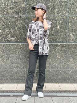 LINKS UMEDA店のMANAEさんのEDWINの終了【EDWIN 60周年限定】 半袖シャツを使ったコーディネート