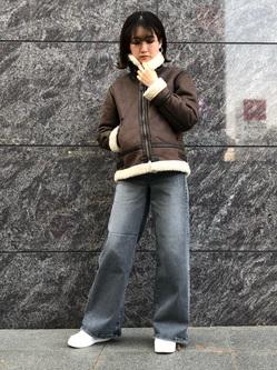 LINKS UMEDA店のMANAEさんのALPHAの終了【Winter sale】B-3 フェイクムートン レディースを使ったコーディネート