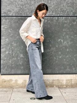 LINKS UMEDA店のMANAEさんのEDWINのミリタリーシャツ 長袖(US NAVY CPO SHIRTSタイプ)を使ったコーディネート