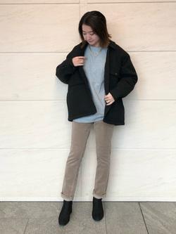 LINKS UMEDA店のMANAEさんのEDWINの【Winter sale】ヘリンボーン CPO ジャケットを使ったコーディネート