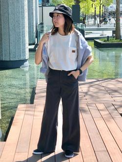 LINKS UMEDA店のMANAEさんのEDWINのラベルポケット クルーネック 半袖Tシャツを使ったコーディネート