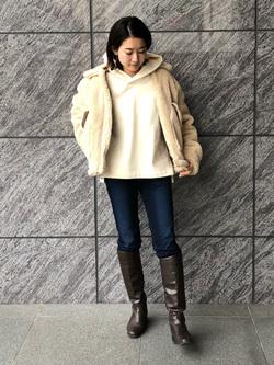 LINKS UMEDA店のMANAEさんのの【Winter sale】ボア ミリタリージャケット レディースを使ったコーディネート