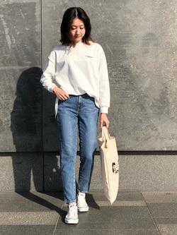 LINKS UMEDA店のMANAEさんのSOMETHINGのSOMETHING TOKYO SOME GIRLS 2WAYトートバッグを使ったコーディネート