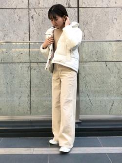 LINKS UMEDA店のMANAEさんのEDWINの【Winter sale】EDWIN LADIES ラウンドヘム ロングスリーブTシャツを使ったコーディネート