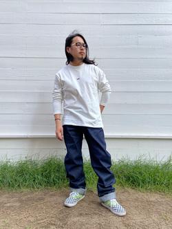 原宿店のShochanさんのLeeの【Pre sale】【男女兼用】バックプリント長袖Tシャツを使ったコーディネート