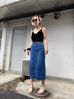 原宿店のAKIさんのLeeのSTANDARD WARDROBE スカートを使ったコーディネート